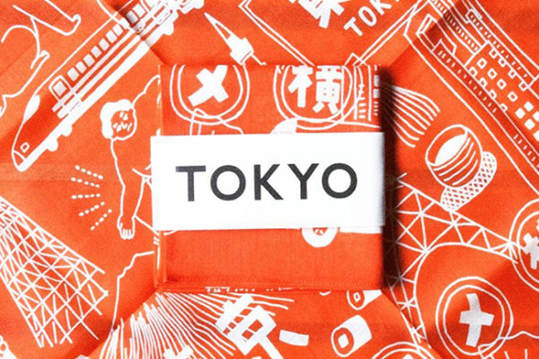 「 TOKYO 」ハンカチイラスト