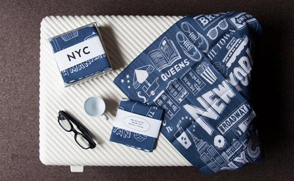 「NYC」ハンカチイラスト